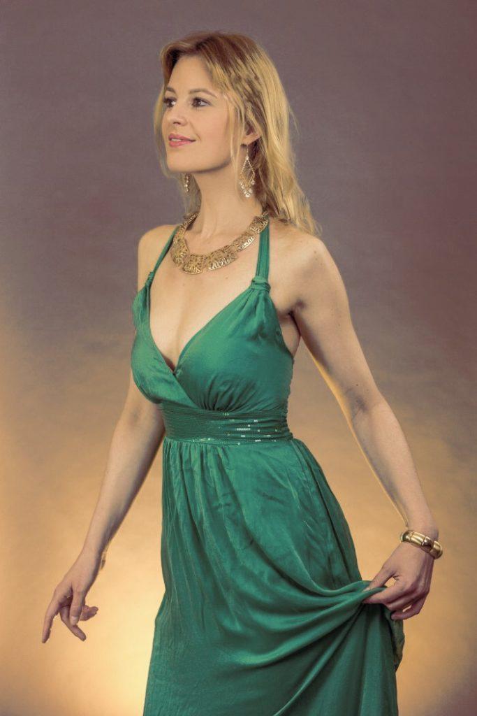 Das Abendkleid in grün von Hallhuber