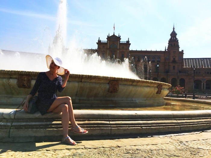 Brunnen auf dem Plaza de Espana