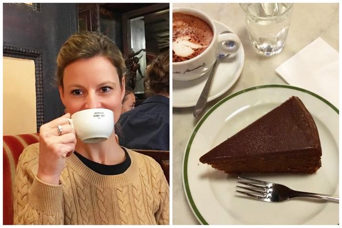 Cafe Hawelka - Heiße Schokolade und Sachertorte