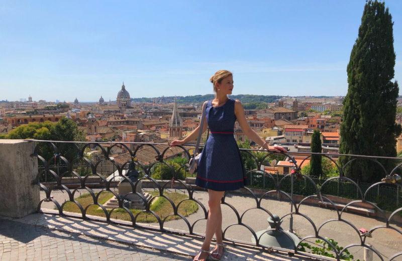 Aussichtspunkt von der Piazza Napoleone - herrlicher Blick auf Rom
