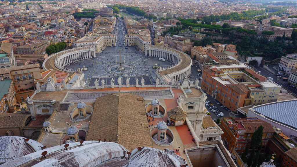 Petersdom - Blick auf Rom